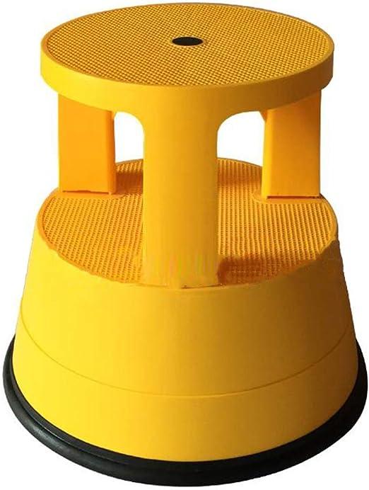 CAIJUN Taburete De Escalera Uso Interior Plástico PP Antideslizante Rueda Universal Todo El Equipo Moda, 8 Colores Doble Uso (Color : H, Tamaño : 42x39cm): Amazon.es: Hogar