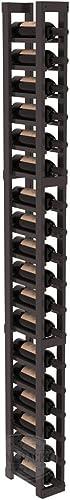 Wine Racks America Pine 1 Column Wine Cellar Rack. Black Stain Satin Finish