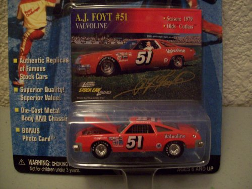 Johnny Lightning Stock Car Legends A.J. Foyt #51 Valvoline Olds Cutlass
