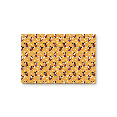 Doormat Entrance Mat Floor Indoor/Bathroom Rug Non Slip,Halloween Bat Cup Cake and Candy 18-Inch by 30-Inch