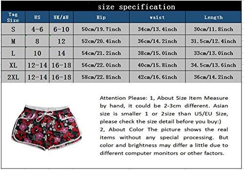 Hot Floreali Spiaggia Pants Casual Pantaloncini Estivo Blu Cielo Shorts con Donne Moda ZUOAgn
