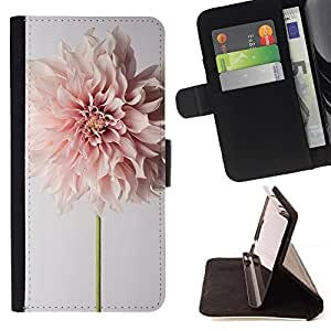 Momo Phone Case / Flip Funda de Cuero Case Cover - Fleur Printemps Pâques Pétale Floral Beige - Samsung Galaxy A5 ( A5000 ) 2014 Version