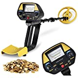 INTEY Metal Detector GC1039 Pinpoint Function Discrimination Mode High-Sensitivity Coil Waterproof Search Metals, Outdoor Sports, for Teens, Beginners Professional