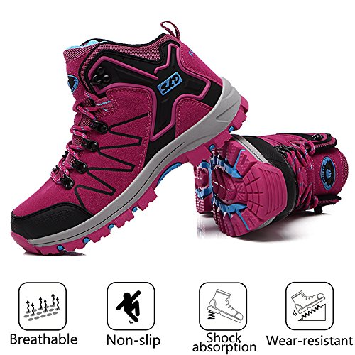 Pictures of FEOZYZ Womens Hiking Boots Trekking Shoes Anti- QLMXZY's 1008 6