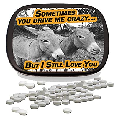 You Drive Me Crazy But I Still Love You Mints – Funny for Friends Funny Mint Tins Stocking Stuffers for Adults Teens Kids Wintergreen Mints Friendship Relationship I'm Sorr: Toys & Games