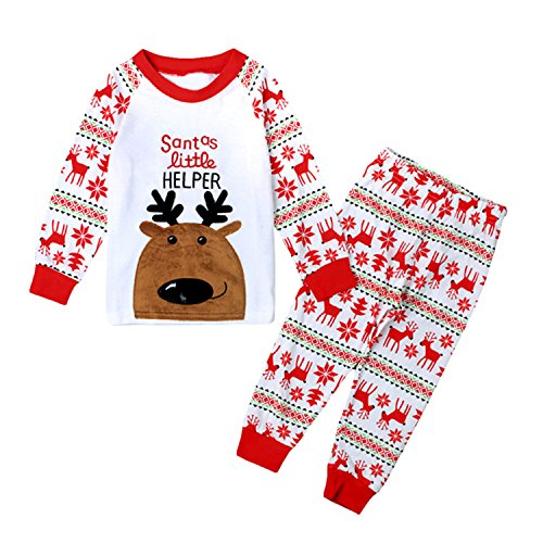 Tkala Boys Christmas Pajamas Girls Children Clothes Set Dinosaur 100% Cotton Little Kids Pjs Sleepwear (Christmas Pajamas For Children)