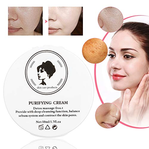 50g Detox Anti-Aging Day & Night Face Cream Face Massage Cream Bamboo Charcoal Detox Cream Deep Cleansing Skin Care