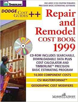 Dodge Repair and Remodel Cost Book 1999 (Dodge Cost Guide ++)
