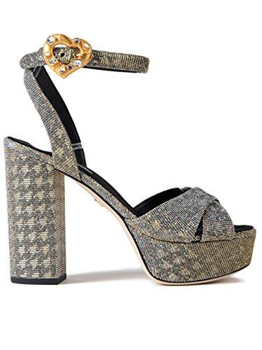 Sandalias CR0567AH9308T656 Dolce Mujer E Gabbana Cuero Plata 1qZRW4Pqxw