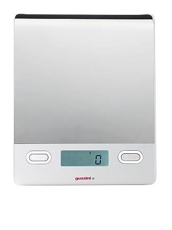 guzzini bilancia da cucina elettronica colore bianco a specchio ... - Bilancia Da Cucina Elettronica