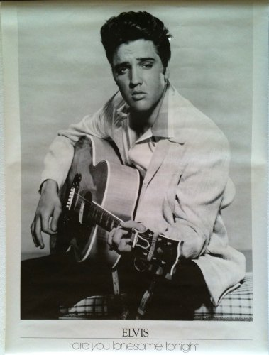 ELVIS PRESLEY Mint Sealed ARE YOU LONESOME TONIGHT Poster (Large Size 23