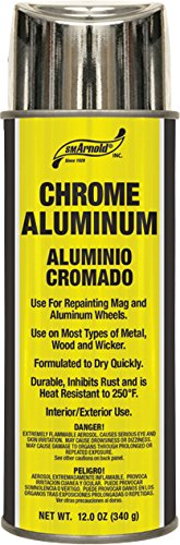 SM Arnold (66-106) Lacquer Spray Paint, Chrome Aluminum Lacquer - 12 ()