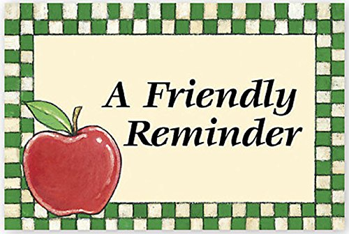 A Friendly Reminder Appointment Card, 200 Count by EGPChecks