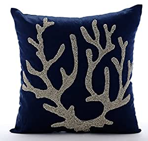 Amazon Com Navy Blue Throw Pillows Cover For Couch