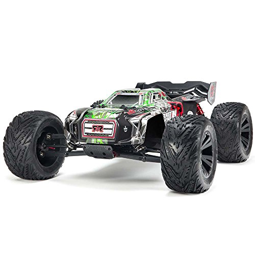 ARRMA KRATON 6S BLX 4WD Electric RC RTR Remote Control Speed Truck with 2.4GHz Radio, Servo, Brushless ESC/Motor, 1:8 Scale, (Black/Green) -