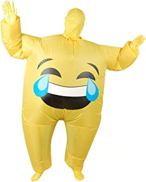 ADATEN Disfraces Disfraces inflables Smiley Expresión Paquete ...