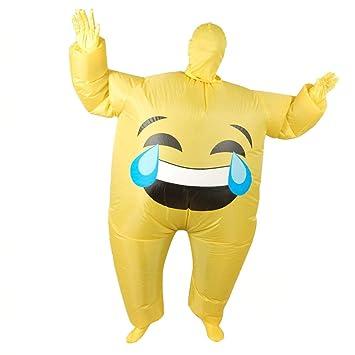 ADATEN Disfraces Disfraces inflables Smiley Expresión ...