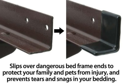 Quot gashguards deluxe rubberized plastic bed frame end
