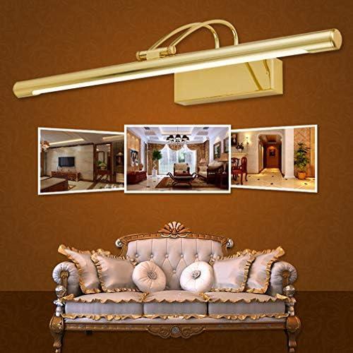 . Americana de Oro LED 41/55 / 63cm espejo luz delantera Inicio Baño Hotel maquillaje luz del espejo (Color : Neutral light)