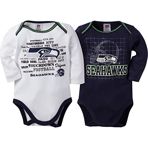 Seattle Seahawks Jersey (NFL Seattle Seahawks Long Sleeve Bodysuit (2 Pack), 3-6 Months,)