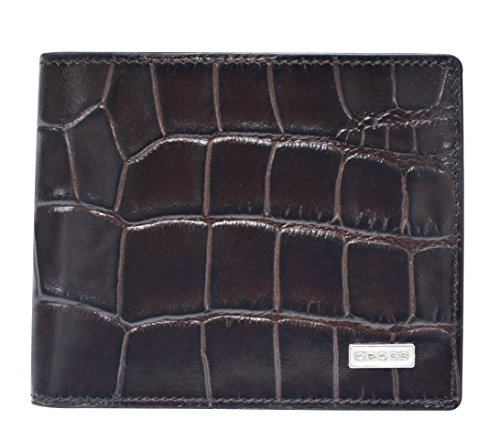 Cross Men's Genuine Leather Bi-fold Coin Wallet with Credit Card and Currency Compartment (Brown / Taupe) (Belt Gucci Men Replica)