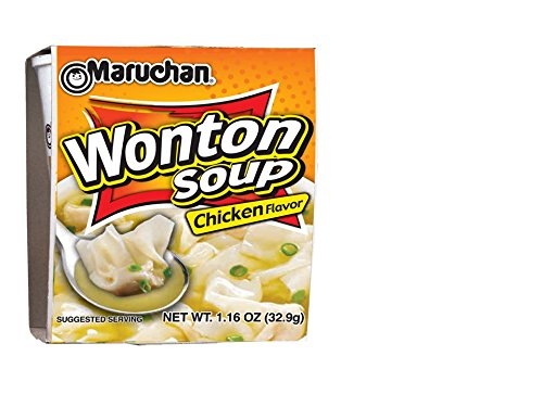 Maruchan Wonton Soup Chicken Flavor, 1.6 Pound (Pack of 12)