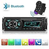 Car Stereo Radio Single-Din, Dicoool MP3 Car Radio Bluetooth Player Receiver Support 2USB/TF/MMC/Hand-Free Control, 7 Color Lights