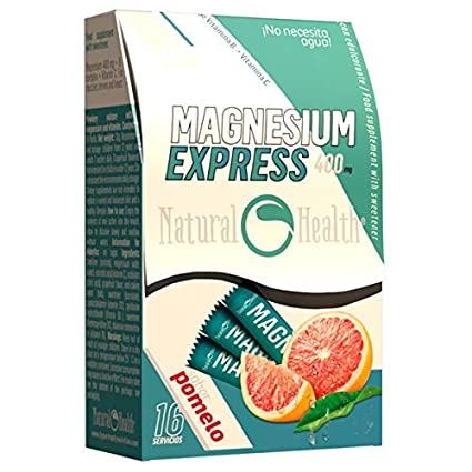 Natural Health - Magnesio Express 400mg - 16 sticks - Pomelo