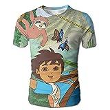 BYUCI FMILOC T-shirt Go Diego Go Sublimated 3D Full Print Style Comfortable Mens T-shirt