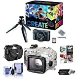 Canon PowerShot G7 X Mark II Video Creator Kit - Bundle With WP-DC55 Waterproof Case - Camera Case, Cleaning Kit, Card Reader, Software Package