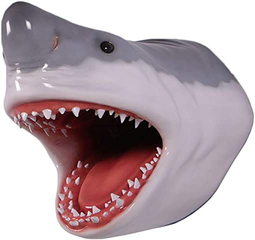 Nautical Tropical Imports Great White Shark Head Large Trophy Wall Sculpture Decor 22 Inch