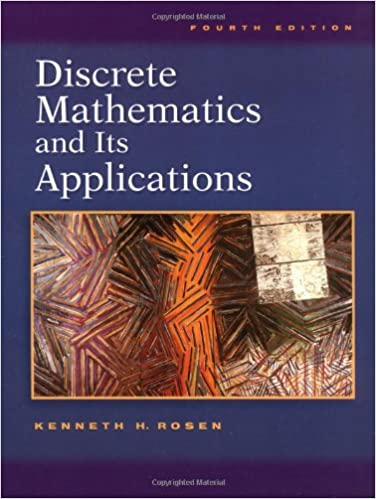 Discrete Mathematics textbook with a picture of shapes on its cover