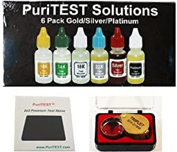 Gold Test Acid Kit 10k 14k 18k 22k Silver Tester Magnifier Metal Jewelry Testing