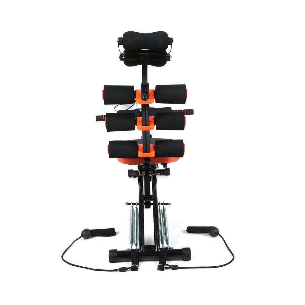 MAXOfit Heimtrainer Multitrainer Sixmax MF-6 grau//schwarz//orange 86 cm x 25 cm x 40 cm