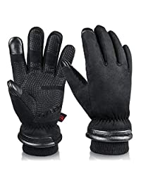OZERO -30℉ Waterproof Winter Gloves for Men Touch Screen Thermal in Cold Weather for Motorcycle Cycling Driving
