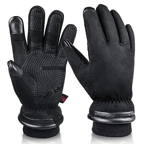 OZERO Insulated Work Gloves for Men Waterproof and Touch Screen