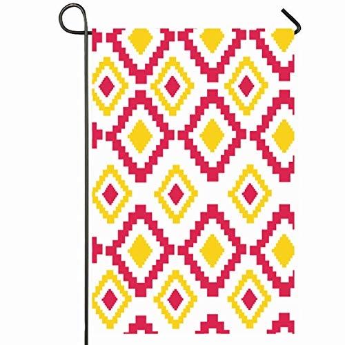 (Ahawoso Outdoor Garden Flag 12x18 Inches Mexican Hispanic American Indian Aztec Ethnic Abstract Sewing Pattern Southwest Borders Arrow Colored Seasonal Home Decorative House Yard Sign)