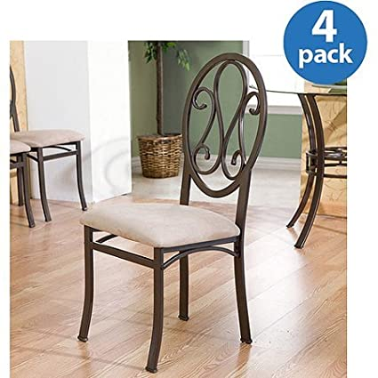 Amazon.com: Classy Living Room & Kitchen Chairs-Set Of Four ...