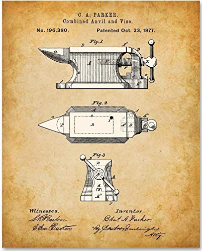 Anvil - 11x14 Unframed Patent Print - Makes a Great Home Decor Under $15 from Personalized Signs by Lone Star Art