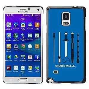 Be Good Phone Accessory // Dura Cáscara cubierta Protectora Caso Carcasa Funda de Protección para Samsung Galaxy Note 4 SM-N910 // Choose Wisely Your Weapon