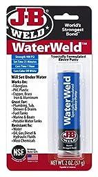 J-B Weld 8277 WaterWeld Underwater Epoxy Putty - 2 oz - 4 Pack