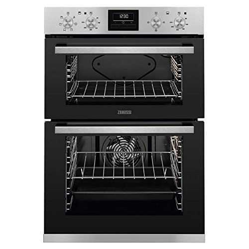 Zanussi ZOD35660XK Multifunction Built-in Double Oven With Programmable Timer - Stainless Steel