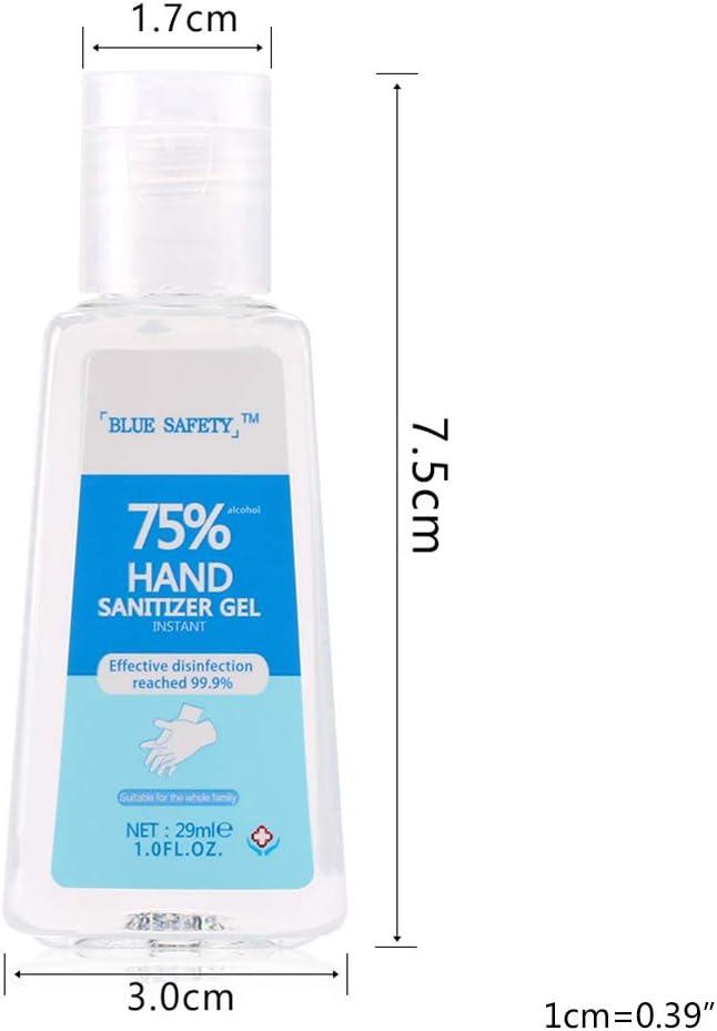 LAOAYI 29ml 75/% Alcool monouso Sapone Gel Idratante No Wash Quick-Dry effettiva 99,99/% Pulizia della Pelle