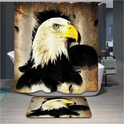 Monadicase Christmas Shower Curtains Width X Height / 72 X 80 Inches / W H 180 By 200 Cm(fabric) Nice Choice For Boys,artwork,kids Boys,family,couples. Mildew Resistant Eagle (Indian Couple Costume)