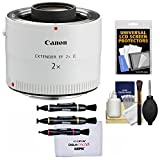 Canon EF 2x Extender III Lens Teleconverter with Lenspens + Screen Protectors + Kit