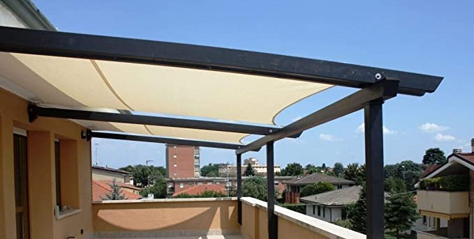 E.enjoy Malla Sombra De Red Exterior Jardín Patio Fiesta Protector Solar Toldo Toldo 90% Bloque UV Cuadrado Crema Ventilación Permeable (Size : 100cmX600cm): Amazon.es: Hogar