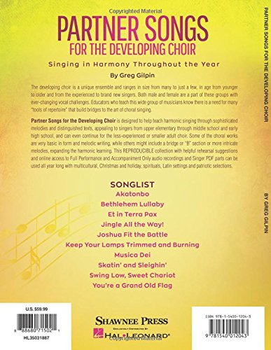 Partner Songs for the Developing Choir: Ten 2-Part