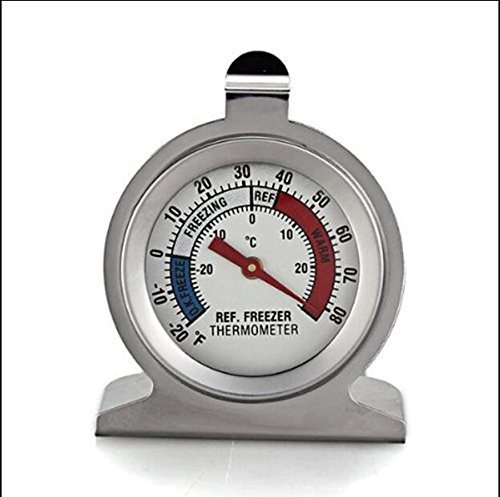 MTSZZF Stainless Steel Dail Thermometer for Refrigerator Fridge Freezer