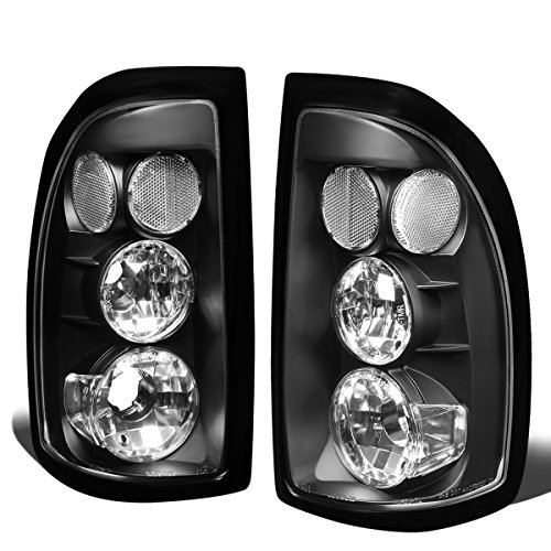For 1997-2004 Dodge Dakota Pair Black Housing Altezza Style Tail Light Brake/Parking Lamps
