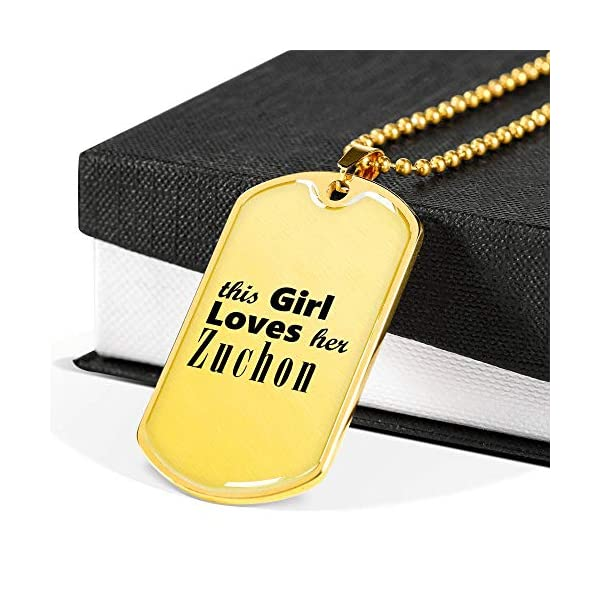 Zuchon - 18k Gold Finished Luxury Dog Tag Necklace Lover Owner Mom Birthday Gifts Jewelry 2